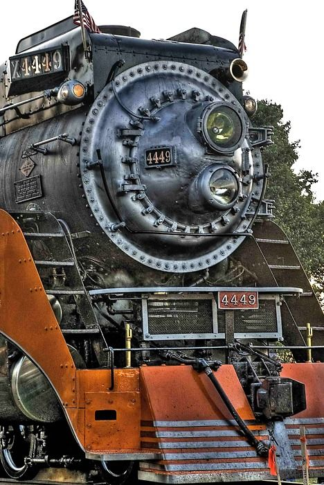 X4449 Steam Locomotive. Southern Pacific's Premier train, known as the Daylight, built in the 1940's it operated out of Los Angeles to San Francisco, CA and El Paso, TX, as well as out of Oakland to Bakersfield, CA and Portland, OR.