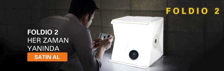 Foldio2 Işıklı Ürün Çekim Çadırı Akıllı Fotoğraf Stüdyosu. Ürün çekiminde devrim. Mutlaka ürünümüzü inceleyiniz!!! Foldio Türkiye www.foldioturkiye.com