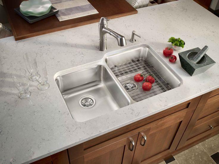 elkay sink faucet eluhws3120l_lkec1041nk - Elkay Kitchen Sinks