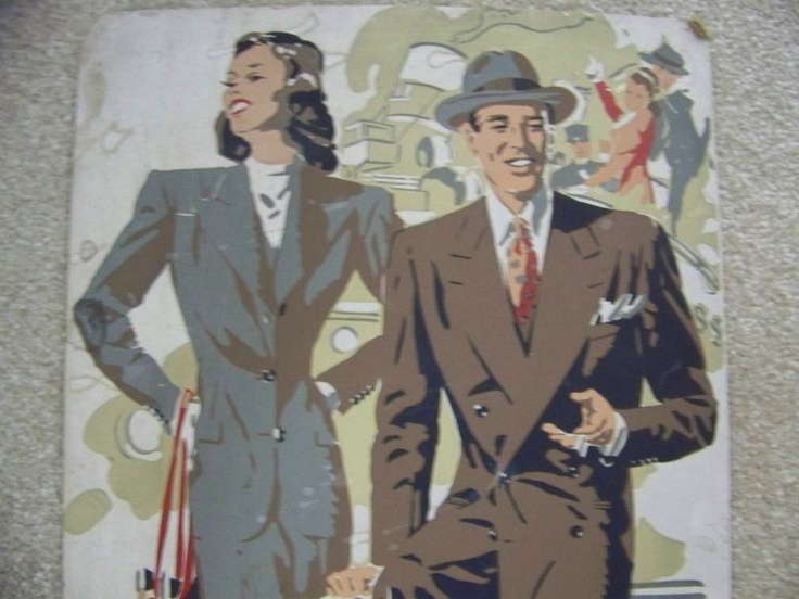 Love this vintage advertising poster - would be great in a sewing room or vintage clothing shop!