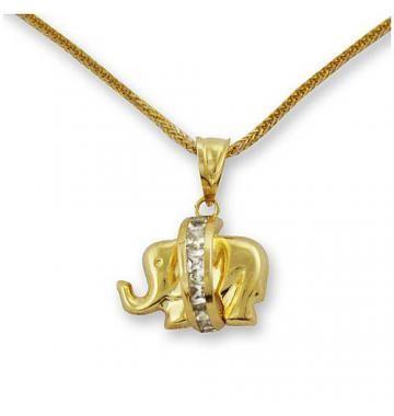 Słonik ze złota z łańcuszkiem #PrezentNaChrzest #PamiatkaChrztu #PrezentNaChrzciny