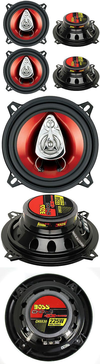 Car Speakers and Speaker Systems: 4) New Boss Ch5530 5.25 3-Way 450W Car Audio Coaxial Speakers Stereo Red -> BUY IT NOW ONLY: $35.95 on eBay!
