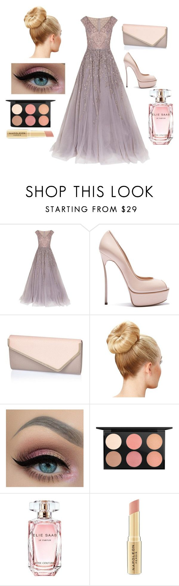 """Ballo di fine anno"" by lovelydarkangel ❤ liked on Polyvore featuring mode, Georges Hobeika, Casadei, River Island, MAC Cosmetics, Elie Saab et Napoleon Perdis"