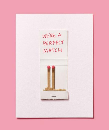 Once you've found your perfect match, it's easy to turn sentiments into handmade crafts. Start with a blank note card, glue, and a felt tip marker.