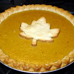 Homemade Fresh Pumpkin Pie Recipe *