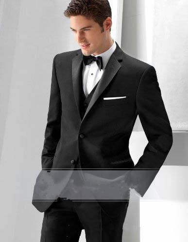 2015 Black Suit Custom Made High Quality Tuxedos Groom Groomsmen Handsome Wedding Suits For Men Jacket+Pants+Bow Tie A8 Tails Tux Tux Tail From Libanglin888, $74.16| Dhgate.Com