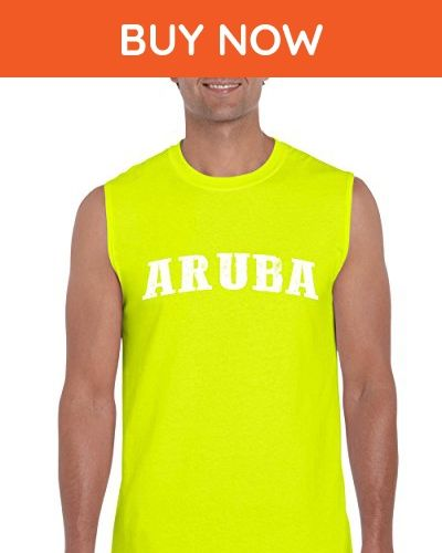 Ugo What to do in Aruba? Travel Time Flag Map Guide Flights Top 10 Things To Do Ultra Cotton Sleeveless Men's T-Shirt - Cities countries flags shirts (*Amazon Partner-Link)