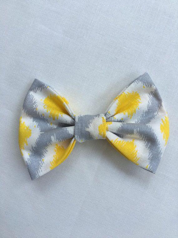 d6cc132ac94c Yellow Gray White Hair Bow