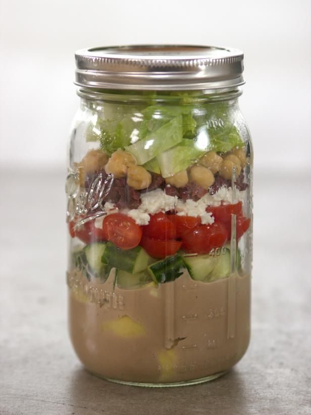 Get Greek Salad in a Jar Recipe from Food Network