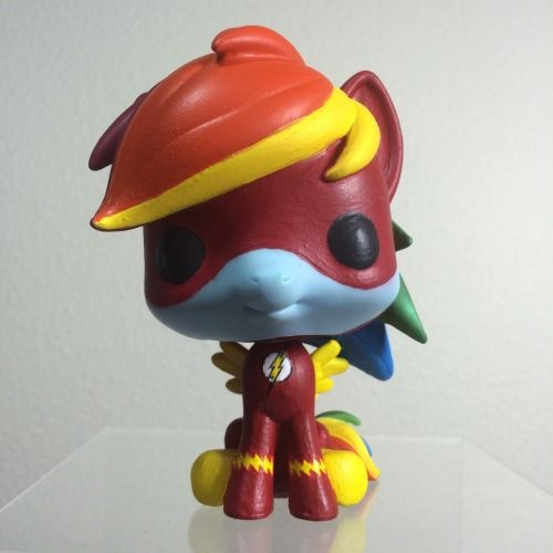 Rainbow flash rainbow dash the flash mash up custom funko pop
