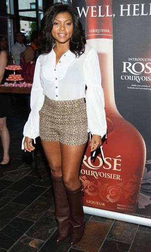 T.Henson is beautiful.  I would love to be in that type of shape.  Too old to rock that look exactly