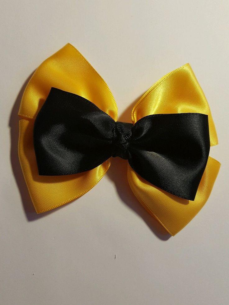 Madelienas Handmade. My Inspired Emma Wiggle Satin Ribbon Bow hair clip 1x - AU$4.50 a clip