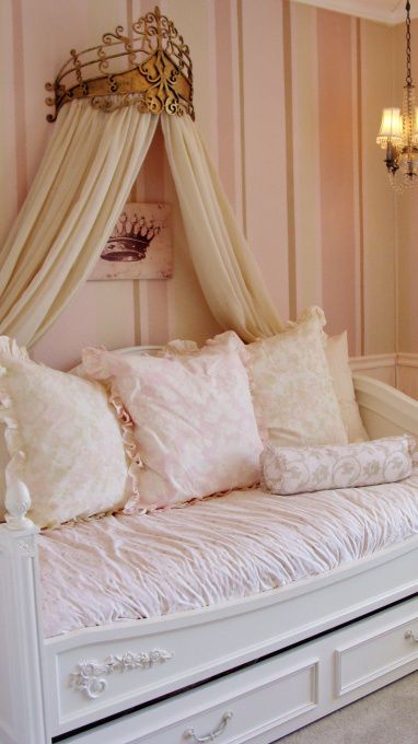 "Day bed and tiara canopy for my dream ""dressing room"""