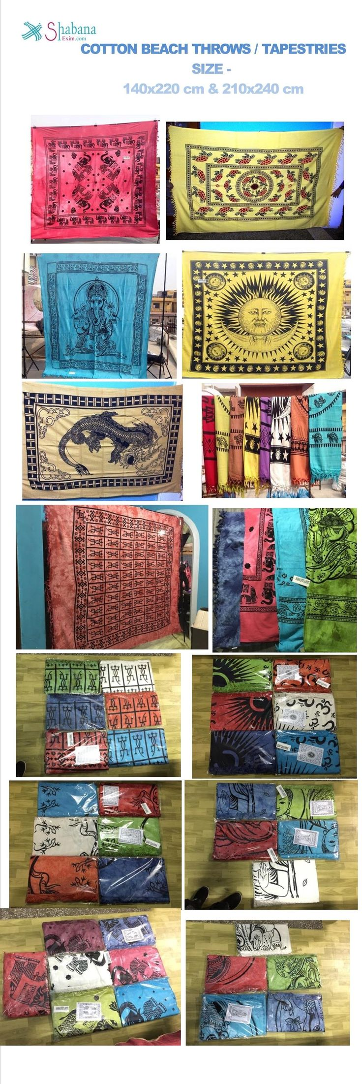 Cotton hand loom printed bed sheets tapestry wall hangings beach throws  Lizard sun moon african coral dragon elephants sea turtles prints