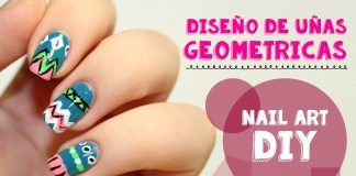 Uñas decoradas con figuras geométricas – Video tutorial paso a paso