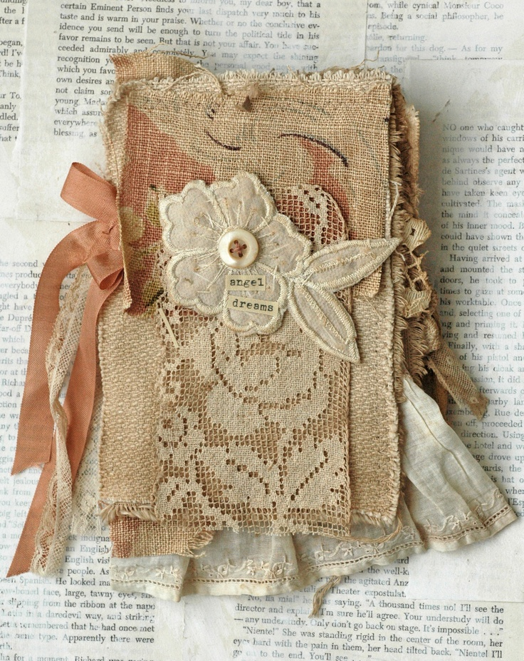 Diy Lace Book Cover ~ Best images about fabric books on pinterest