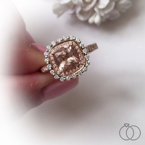 The morganite center is a picture of romance with its soft pink hue. Did you know morganite is a durable gem and is part of the emerald family? Browse rings, earrings and other bobbles with this fantastic gem. Robbins Brothers Sku: 0415908