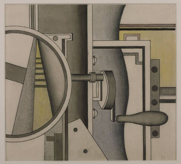 Fernand Léger, 'Mechanical Elements' 1926  watercolour graphite and ink on paper.