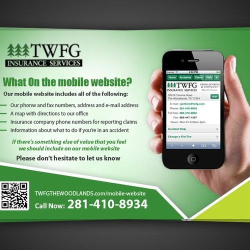 New Postcard Or Flyer Wanted For Twfg Insurance Services Postcard