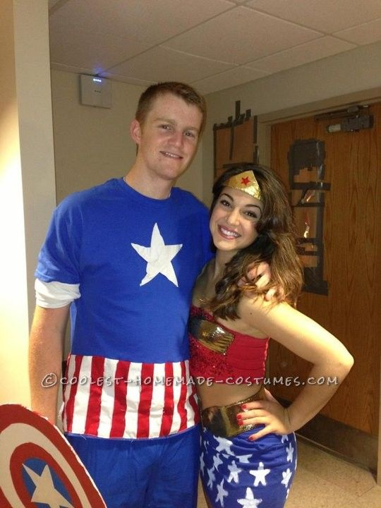 Cool Homemade Justice League Couple Costume ...This website is the Pinterest of costumes