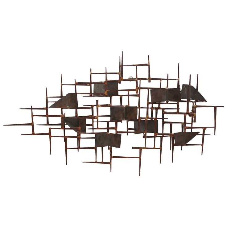 midcentury modern wall sculpture after william bowie