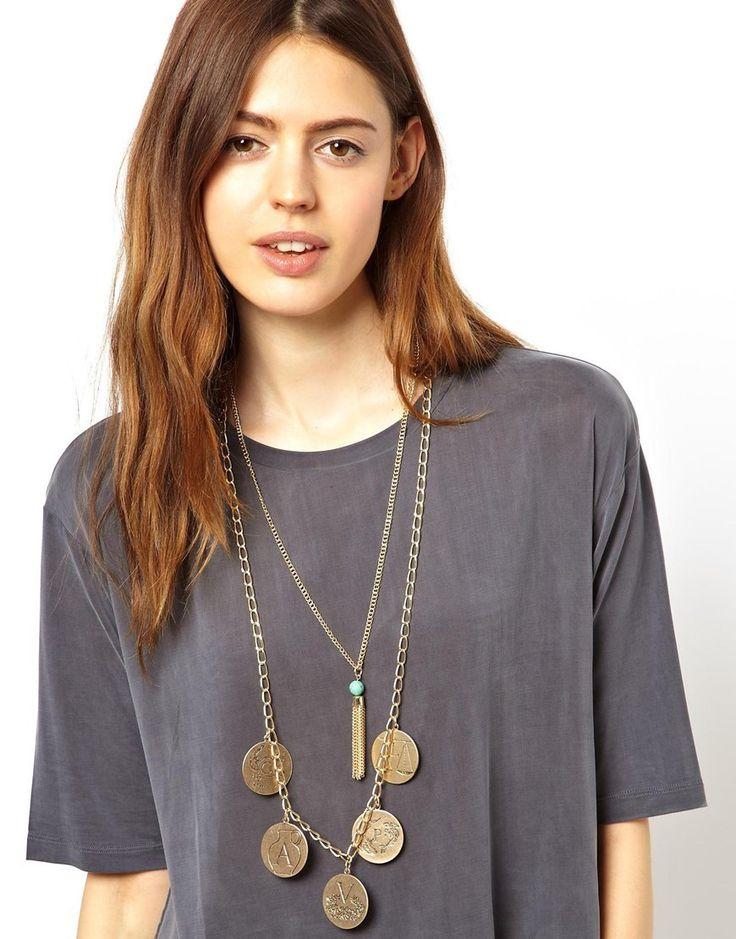 Куплю ожерелье из двух цепочек с монетами и кисточкой ASOS в интернет-магазине стильной одежды LondonStreet.ru