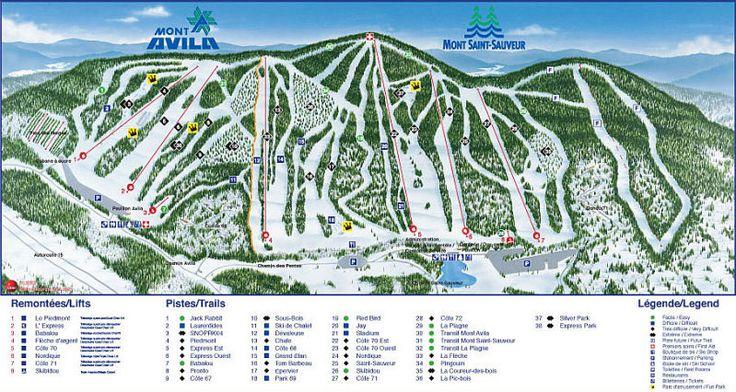 Mont Saint Sauveur Ski Resort Guide, Location Map & Mont Saint Sauveur ski holiday accommodation