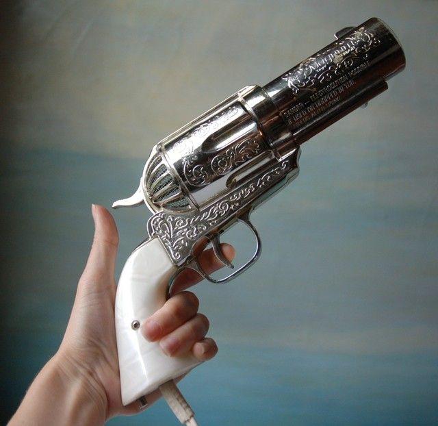 The 357 Magnum Gun Hair Dryer | DudeIWantThat.com @Ashley Lyle-Hsie, @Hannah Reasons, and @keri.