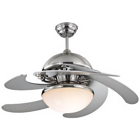 Small ceiling fans pictures to inspire 32 52 monte carlo centrifica brushed steel ceiling fan light 714 8 blades mozeypictures Choice Image