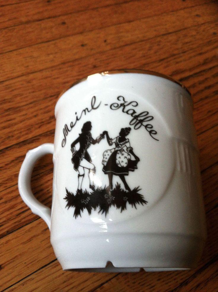 Rare MOZART MELANGE MEINL KAFFEE GOLD TRIMMED CERAMIC COFFEE MUG CUP
