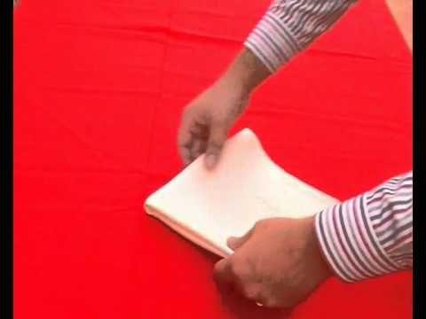 Decoracion o Doblado de servilletas de tela.flv - YouTube