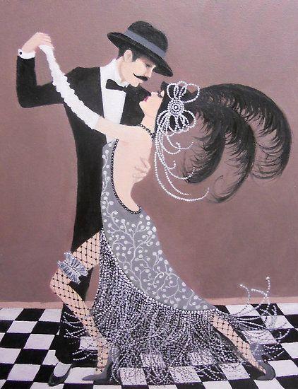 ART DECO DANCERS by Dian Bernardo. #dance