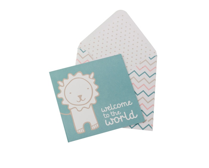 Welcome to The World Card (Blue): Bebis, $5.95