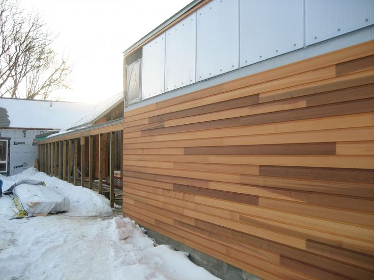 35 best ideas for the house images on pinterest cedar for Horizontal metal siding
