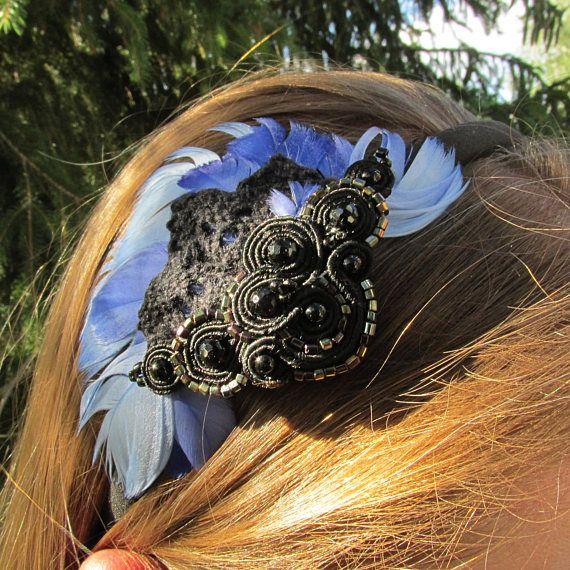 Hair Band for Women Soutache Hair Band Women Headband Women Headbands Hair Accessories Women Womens Women's Accessory Hair Feathers Girl