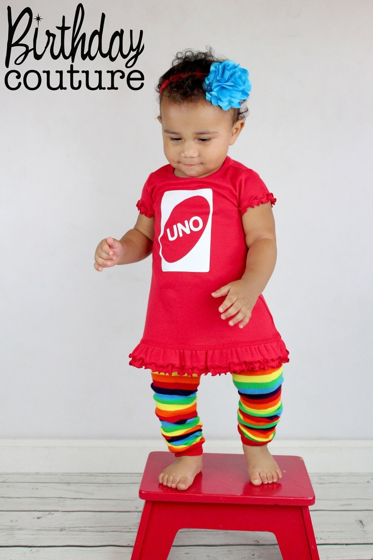 UNO First Birthday Girl Dress in Red - Fun, Unique Outfit for her first birthday -  Excellent Photo Prop. $35.95, via Etsy.