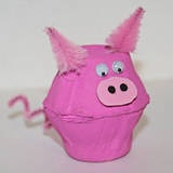 Piggy Egg Carton Craft