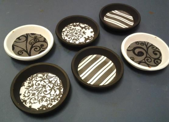 Coasters ~made from terracotta pot bases! :]