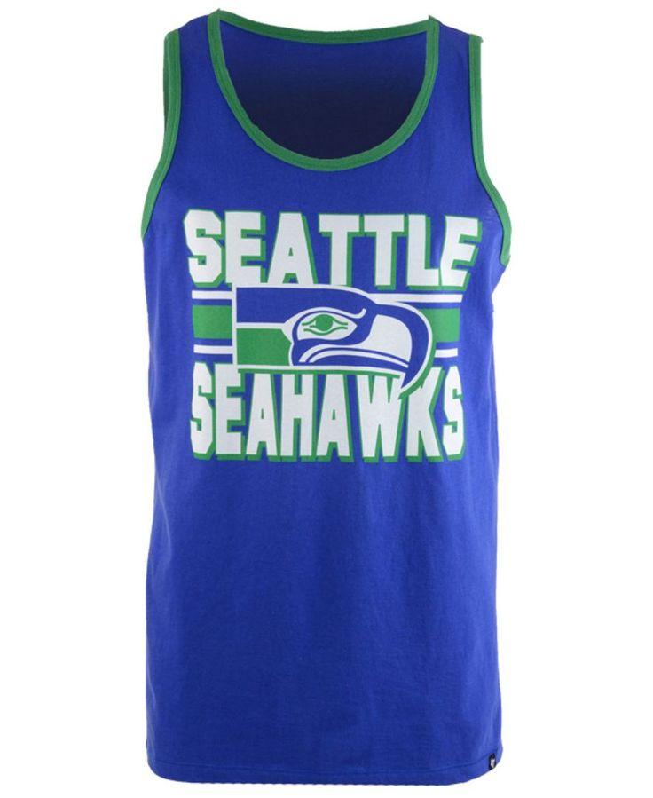 '47 Brand Men's Seattle Seahawks Team Stripe Crosstown Tank