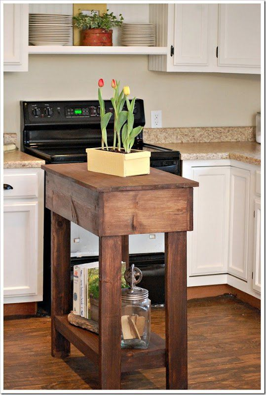 30 rustic diy kitchen island ideas - Kitchen Island Small Space
