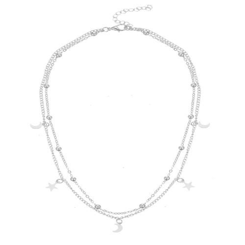 LUNA LAYERED NECKLACE (SILVER) www.minimalistjewellery.com.au  #minimalistbabe #minimalistbabes #minimalistjewelry #minimalistjewellery #minimalist #jewellery #jewelry #minimalistaccessories #bangles #bracelets #rings #necklace #earrings #womensaccessories #accessories