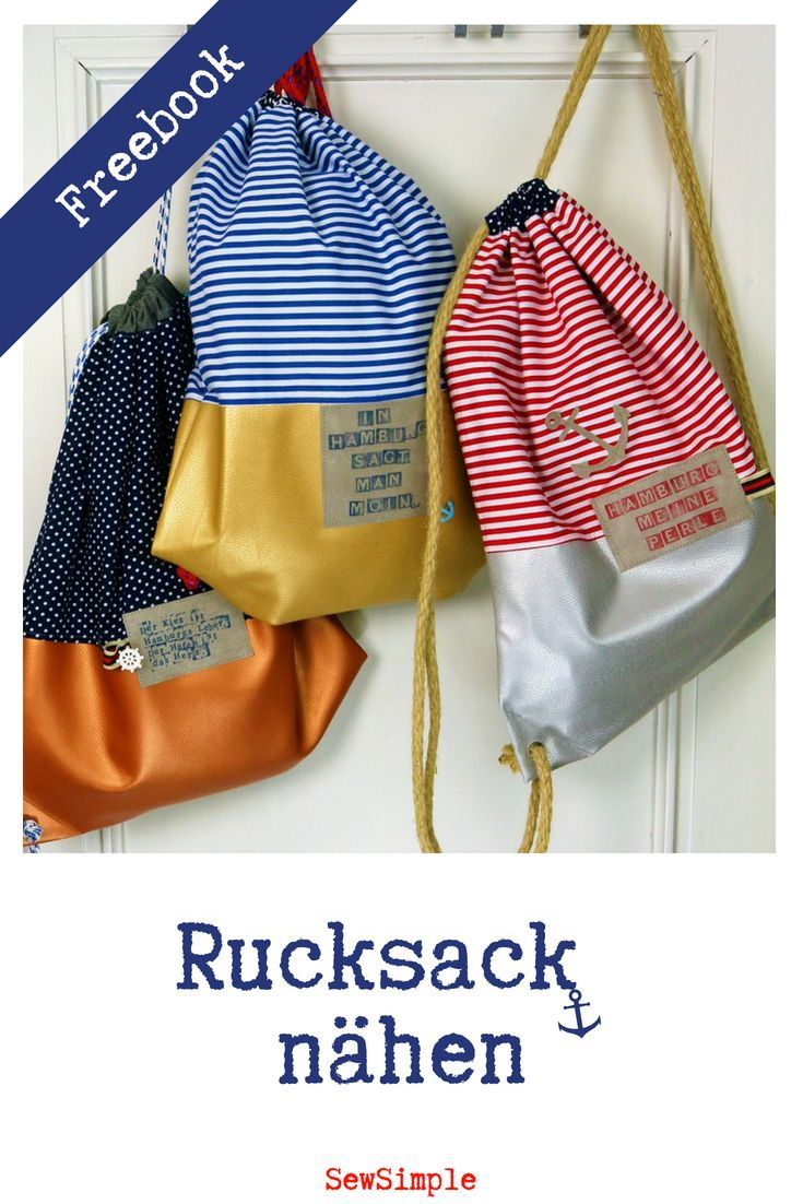 Näh-Anleitung: Maritimen Rucksack mit Kunstleder nähen