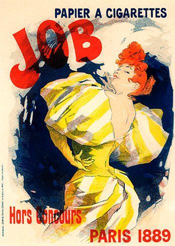 Job, papier a Cigarettes. Jules Cheret (1889)