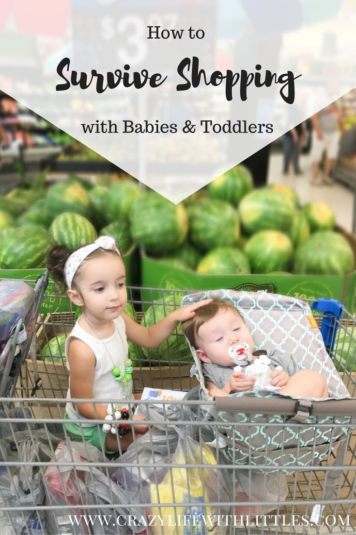 Tips for Shopping with Babies and Toddlers, shopping cart tricks and hacks