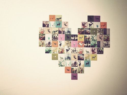 Lovely heart picture montage.