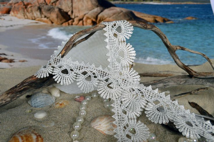 White Ivory Lace wh064 by TheQuiltedCheese on Etsy