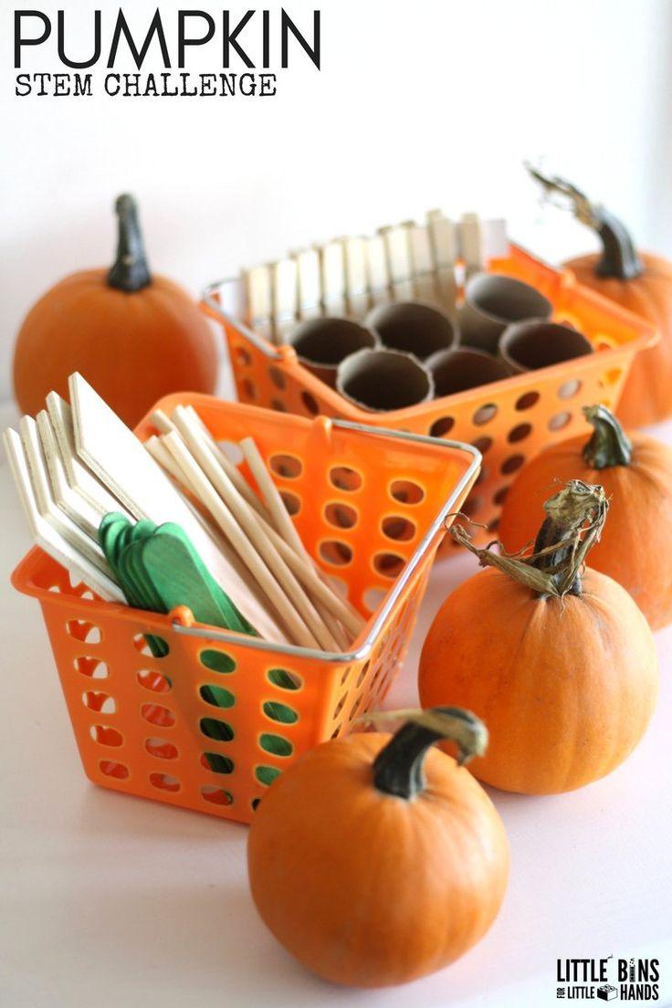 Five Little Pumpkin STEM Challenge Structure Building Kit