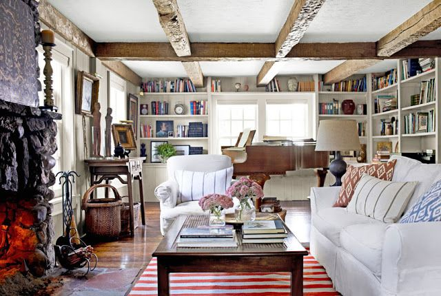 love the bookshelves and feel of the room