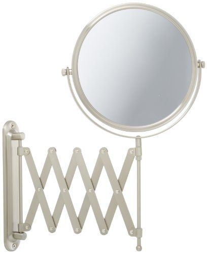 Jerdon JP2027N 8-Inch Two-Sided Swivel Wall Mount Mirror with 7x Magnification, 23-Inch Extension, Nickel Finish Jerdon http://www.amazon.com/dp/B000G666HE/ref=cm_sw_r_pi_dp_B5Cpub0R1JK5B