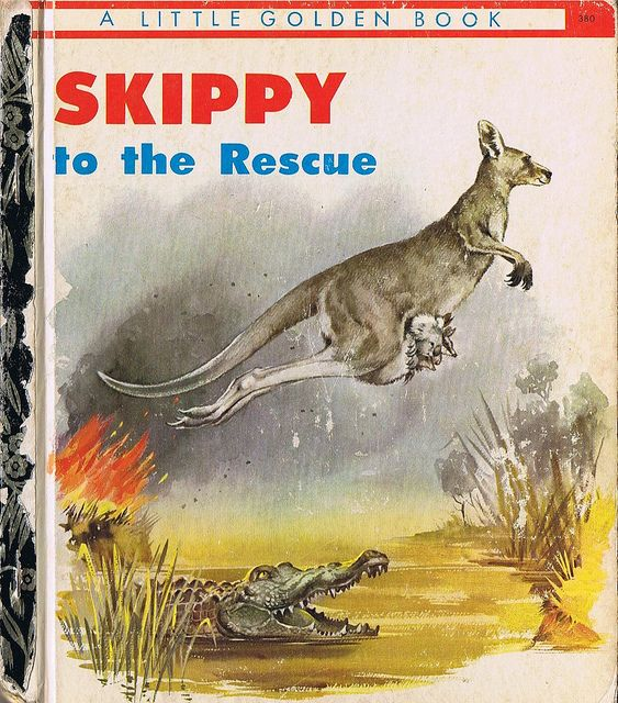 SKIPPY TO THE RESCUE, Little Golden Book, Four colour back | Flickr - Photo Sharing!